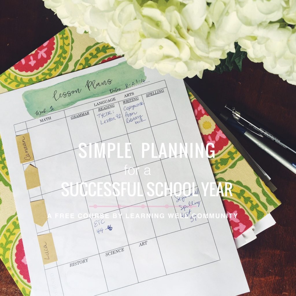 Simple homeschool planning for a successful homeschool year.